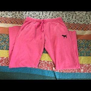 Women's VS PINK Boyfriend Sweat Pants Size Small